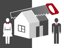 The division of property following divorce or separation